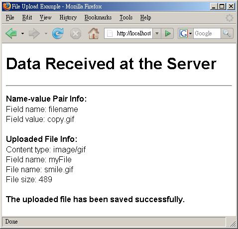 Java Servlet / JSP File Upload: Example JSP File Upload Script